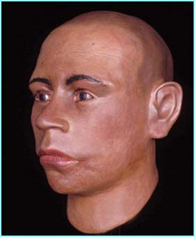 This is the face behind the famous golden death mask of King Tutankhamun.