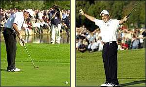 Paul McGinley sparks off ecstatic scenes after his putt secures the trophy for the Europeans
