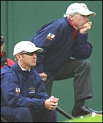 Curtis Strange and David Duval