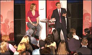Tony Blair in the question and answer show