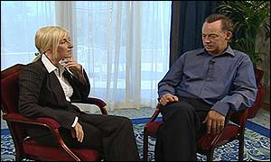 Michael Barrymore with GMTV's Fiona Phillips