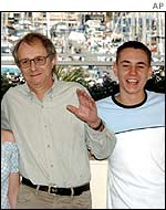 Ken Loach with actor Martin Compston