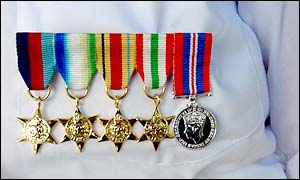 Medals on a chest of a Malta veteran