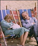 Pensioners on the beach