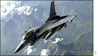 US F16 fighter jet