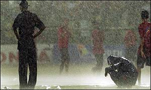 The Champions Trophy final was disrupted by rain on both days