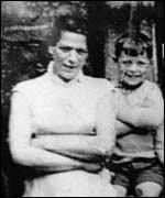 Old family photograph of Jean McConville and one of her children