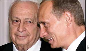 Ariel Sharon and Vladimir Putin