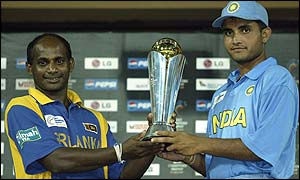 Sanath Jayasuriya and Sourav Ganguly