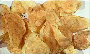 The chemical is created in the cooking of crisps