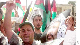 A pro-Arafat demonstration in Hebron