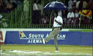 Monsoon rain put paid to the final