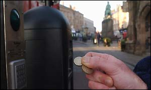 Durham city centre's new toll scheme payment machine