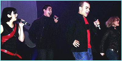March 2001: The nerves did not show as they did their first live concert at the Astoria