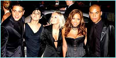 It seemed the celeb bubble would go on and on for the group as they trod the red carpet again at the TV Awards 2001