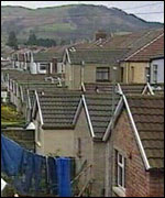 Houses in the south Wales Valleys