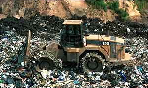 A landfill site in Britain