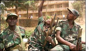The Rwandans said they were in DR Congo to fight Hutu rebels.