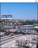 US-Mexican border crossing