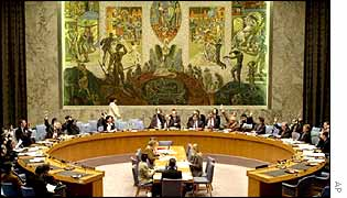 A meeting of the UN Security Council