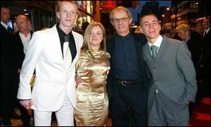 William Ruane with Annemarie Fulton, Ken Loach and Martin Compston (left to right)