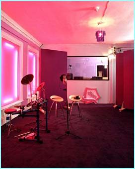 Although not as pink as the recording studio
