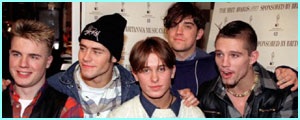 Back in 1993, in Take That, Robbie was at the beginning of his glittering career
