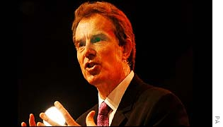 Tony Blair at the Labour Party annual conference