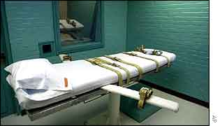 Lethal injection chamber (in Texas)