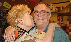 Coronation Street stars Bill Tarmey and Liz Dawn