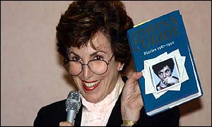 Edwina Currie with diary