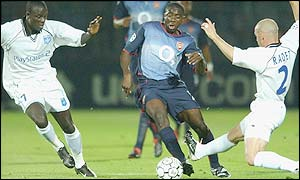 Kolo Toure started his first Champions League game for Arsenal