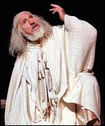 Nigel Hawthorne in an RSC production at the Barbican