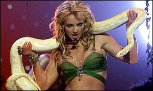 Britney with snake