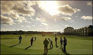 Carnoustie, Kingsbarns and St Andrews host the  Dunhill Links Championship