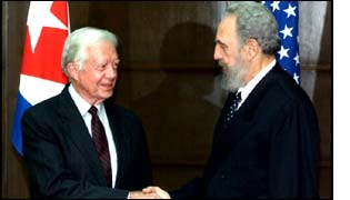 Jimmy Carter and Fidel Castro in Cuba in May