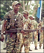 Angolan troops