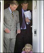 The Prince of Wales during his visit to Cerne Abbas