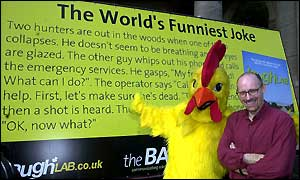 Dr Richard Wiseman, a chicken and the world's funniest joke