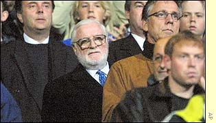 Chairman Ken Bates watches Chelsea lose in the first round of the Uefa Cup once again