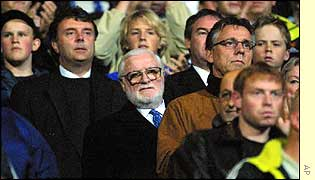 Ken Bates watches as his side lose to Viking Stavanger