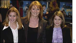 Princess Beatrice, the Duchess of York, Princess Eugenie