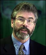 Gerry Adams: Complaint to government over raids