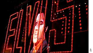 Elvis Presley's name in lights