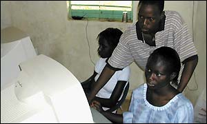 In a telecentre in Senegal