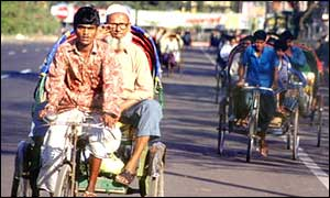 Cycle rickshaws in Dacca