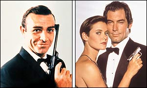 First Bond Sean Connery and later Bond Timothy Dalton