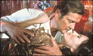 Roger Moore gets up close and personal in Octopussy