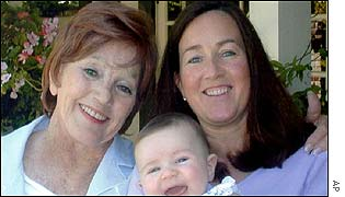 Betty Bullock with granddaughter Jacqueline and daughter Jodie