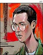 Courtroom drawing of John Walker Lindh